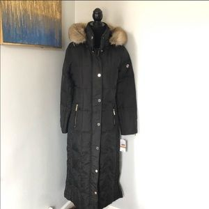 Micheal Kors Missy Long Down Padded Faux Fur Coat